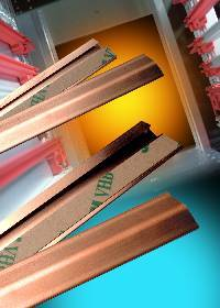slotless beryllium copper EMI/RFI shielding strips